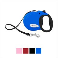 Frisco Nylon Tape Reflective Retractable Dog Leash, Blue, Medium: 16-ft long, 7/16-in wide