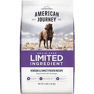 American Journey Limited Ingredient Grain-Free Venison & Sweet Potato Recipe Dry Dog Food, 4-lb bag