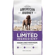 American Journey Limited Ingredient Grain-Free Venison & Sweet Potato Recipe Dry Dog Food, 12-lb bag
