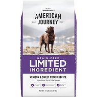 American Journey Limited Ingredient Grain-Free Venison & Sweet Potato Recipe Dry Dog Food, 24-lb bag