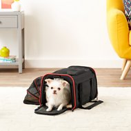 Petsfit Expandable Dog & Cat Carrier, Black, Small