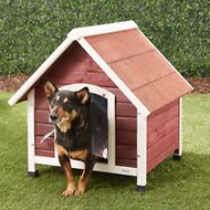 Petsfit Wooden Dog House, Small, Red