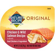 Nature's Recipe Chicken & Wild Salmon Recipe in Broth Wet Dog Food, 2.75-oz, case of 12
