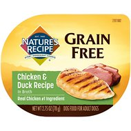 Nature's Recipe Grain-Free Chicken & Duck Recipe in Broth Wet Dog Food, 2.75-oz, case of 12