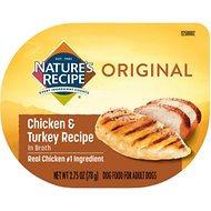 Nature's Recipe Chicken & Turkey Recipe in Broth Wet Dog Food, 2.75-oz, case of 12