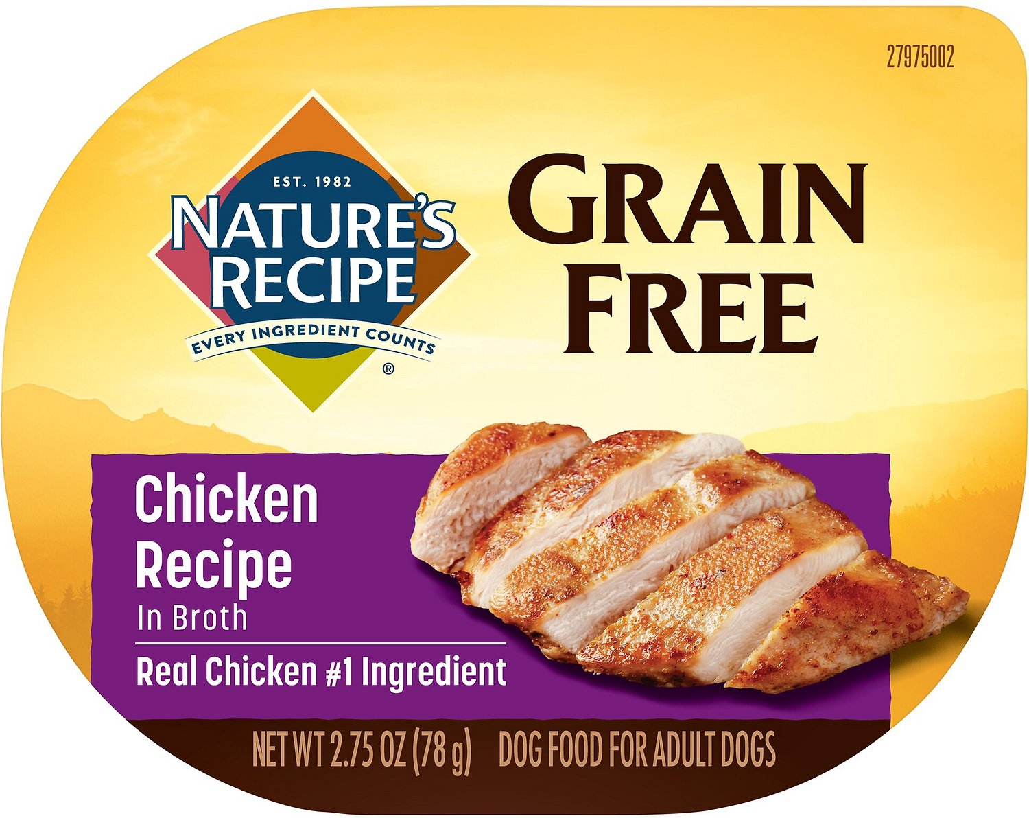 Best Canned Dog Food >> Nature S Recipe Grain Free Chicken Recipe In Broth Wet Dog Food 2 75 Oz Case Of 12