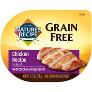 Nature's Recipe Grain-Free Chicken Recipe in Broth Wet Dog Food, 2.75-oz, case of 12