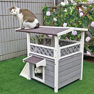 Petsfit 2 Story Outdoor Weatherproof Cat House