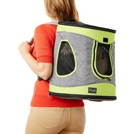 Petsfit Comfort Backpack Dog Carrier, Gray/Green
