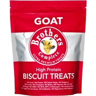 Brothers Complete Goat Biscuit Dog Treats, 1-lb bag