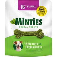 VetIQ Minties Dental Tiny/Small Dog Treats, 16 count