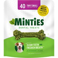 VetIQ Minties Dental Tiny/Small Dog Treats, 40 count