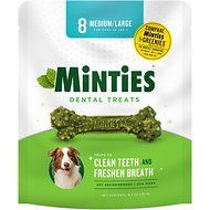 Minties Dental Dog Treats, Medium/Large, 8 count
