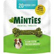 VetIQ Minties Dental Dog Treats, Medium/Large, 20 count