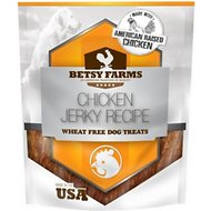 Betsy Farms Natural Chicken Jerky Recipe Wheat Free Dog Treats, 48-oz bag