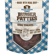 Betsy Farms Premium Beef Recipe Burger Patties Dog Treats, 40-oz bag