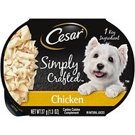 Cesar Simply Crafted Chicken Limited-Ingredient Wet Dog Food Topper, 1.3-oz, case of 10