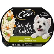 Cesar Simply Crafted Chicken, Carrots, Potatoes & Peas Limited-Ingredient Wet Dog Food Topper, 1.3-oz, case of 10