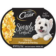Cesar Simply Crafted Chicken, Pumpkin & Parsley Limited-Ingredient Wet Dog Food Topper, 1.3-oz, case of 10