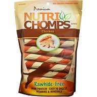 Premium Nutri Chomps Chicken Twist with Flavor Wrap Dog Treats, 15 count