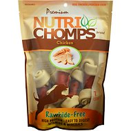 "Premium Nutri Chomps 4"" Chicken Knot with Flavor Wrap Dog Treats, 7 count"