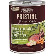 Castor & Pollux PRISTINE Grain-Free Grass-Fed Lamb, Carrot & Apple Stew Canned Dog Food, 12.7-oz, case of 12
