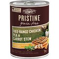 Castor & Pollux PRISTINE Grain-Free Free-Range Chicken, Pea & Carrot Stew Canned Dog Food