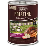 Castor & Pollux PRISTINE Grain-Free Free-Range Turkey, Carrot & Apple Stew Canned Dog Food, 12.7-oz, case of 12