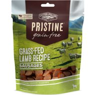 Castor & Pollux PRISTINE Grain-Free Grass-Fed Lamb Recipe Sausages Dog Treats, 5-oz bag