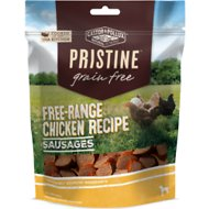 Castor & Pollux PRISTINE Grain-Free Free-Range Chicken Recipe Sausages Dog Treats, 5-oz bag