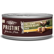 Castor & Pollux PRISTINE Grain-Free Free-Range Chicken Recipe Pate Canned Cat Food, 3-oz, case of 24