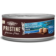 Castor & Pollux PRISTINE Grain-Free Wild-Caught Whitefish Recipe Pate Canned Cat Food, 5.5-oz, case of 24