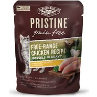 Castor & Pollux PRISTINE Grain-Free Free-Range Chicken Recipe Morsels in Gravy Cat Food Pouches, 3-oz, case of 24