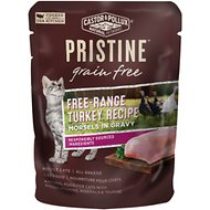 Castor & Pollux PRISTINE Grain-Free Free-Range Turkey Recipe Morsels in Gravy Cat Food Pouches, 3-oz, case of 24