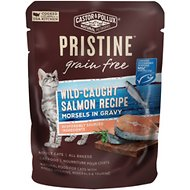 Castor & Pollux PRISTINE Grain-Free Wild-Caught Salmon Recipe Morsels in Gravy Cat Food Pouches, 3-oz, case of 24