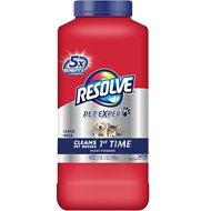Resolve Pet Expert Large Area Moist Powder Carpet Cleaner, 18-oz bottle