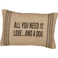 "Primitives By Kathy ""All You Need Is Love… And A Dog"" Pillow"