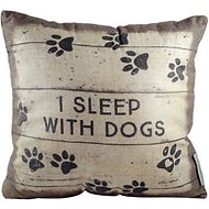 "Primitives By Kathy ""I Sleep With Dogs"" Double Sided Pillow"