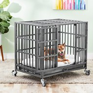 Frisco Ultimate Heavy Duty Steel Metal Dog Crate, Medium