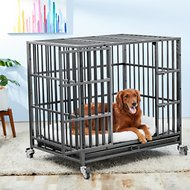 Frisco Ultimate Heavy Duty Steel Metal Single Door Dog Crate, 42 inch
