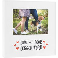 "Pearhead ""Love is a Four Legged Word"" Dog & Cat Picture Frame, 4 x 6 inches"