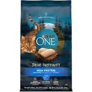 Purina ONE True Instinct Natural Grain-Free with Ocean Whitefish Dry Cat Food, 3.2-lb bag