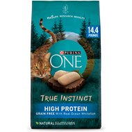 Purina ONE True Instinct Natural Grain-Free with Ocean Whitefish Dry Cat Food, 14.4-lb bag
