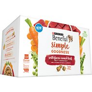 Purina Beneful Simple Goodness With Farm-Raised Beef Dry Dog Food, 9.4-lb, 32 count