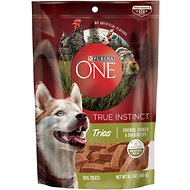 Purina ONE True Instinct Trios Chicken, Turkey & Duck Recipe Dog Treats, 16.5-oz pouch