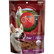 Purina ONE True Instinct Trios Chicken, Beef & Lamb Recipe Dog Treats, 16.5-oz pouch