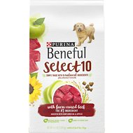Purina Beneful Select 10 With Farm-Raised Beef Dry Dog Food, 4.5-lb bag