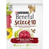 Purina Beneful Select 10 With Farm-Raised Beef Dry Dog Food, 12.5-lb bag