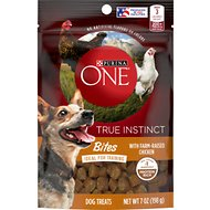 Purina ONE True Instinct Bites With Farm-Raised Chicken Dog Treats, 7-oz bag