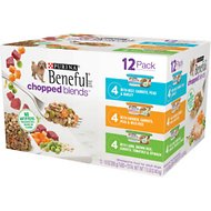 Purina Beneful Chopped Blends Variety Pack Wet Dog Food Tray, 10-oz, case of 12